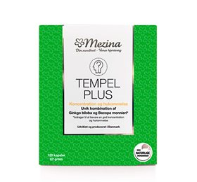 Tempel Plus fra Mezina med unik kombination af Ginkgo Biloba og   Bacopa monnieri