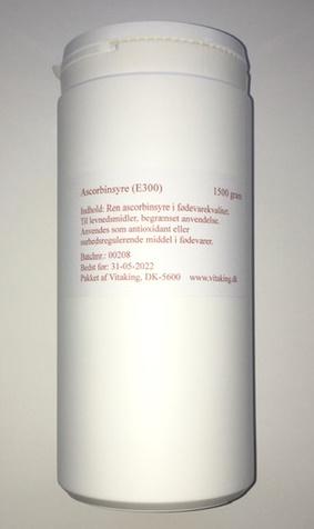 Ascorbinsyrepulver i 1500 gram økonomidåse