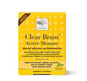 Mega Clear Brain Active Memory fra New Nordic Healthcare